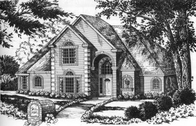 European Style House Plans Plan: 9-265