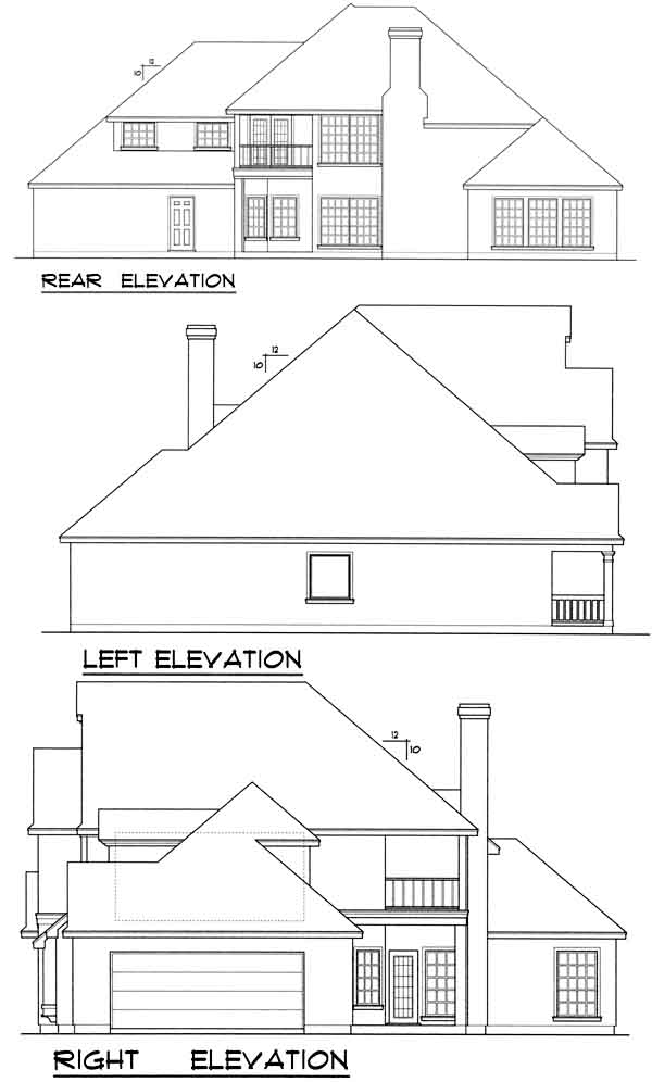 Rear Elevation Plan: 9-266