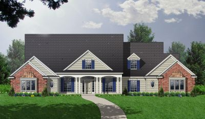Country Style Floor Plans Plan: 9-268