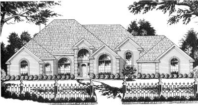 European Style Home Design Plan: 9-270