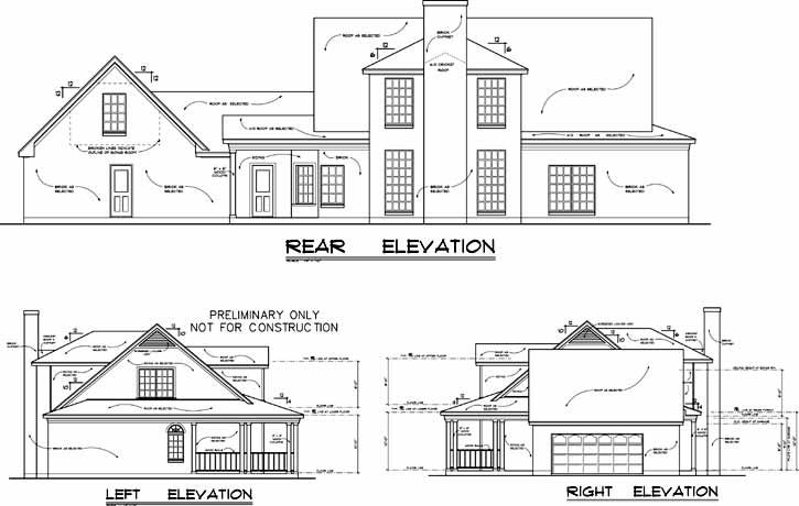 Rear Elevations Plan:9-272