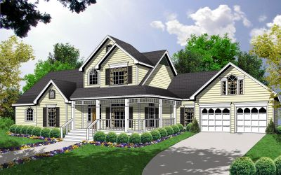 Country Style Floor Plans Plan: 9-274