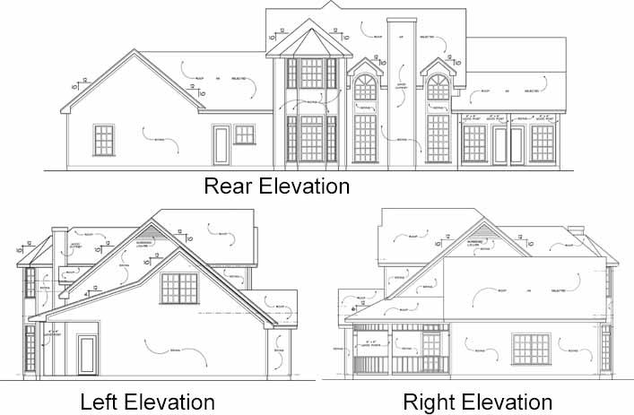 Rear Elevation Plan: 9-274