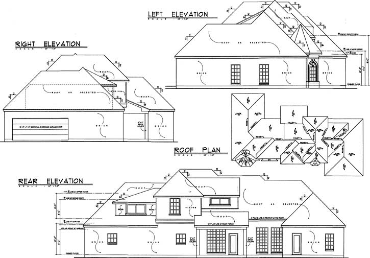 Rear Elevation Plan: 9-277