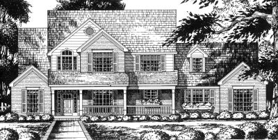 Country Style Floor Plans Plan: 9-278