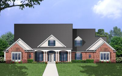 Southern Style Home Design Plan: 9-279