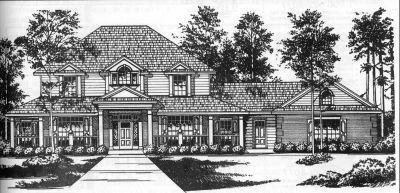 Country Style House Plans Plan: 9-282