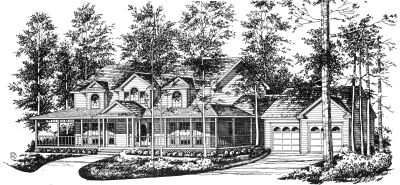 Country Style House Plans Plan: 9-283