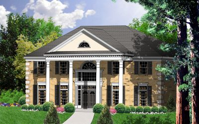 Georgian Style Home Design Plan: 9-284