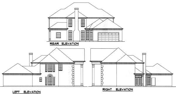 Rear Elevation Plan: 9-284
