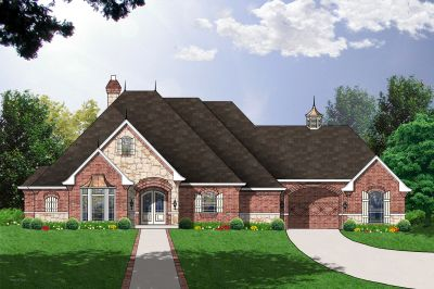 Traditional Style Home Design Plan: 9-289