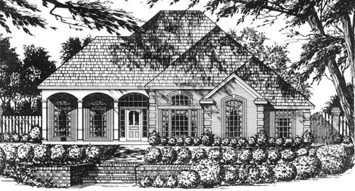 Country Style Home Design Plan: 9-303