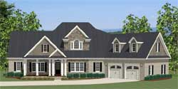 Traditional Style Home Design 90-104