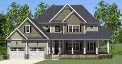 Traditional Style Home Design 90-105