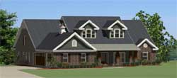 Country Style Home Design 90-107