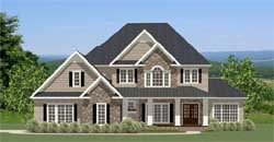 Traditional Style Home Design Plan: 90-119