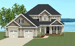 Traditional Style Home Design Plan: 90-123