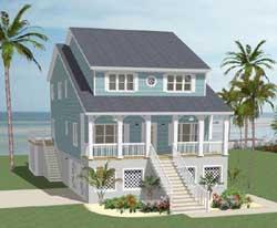 Coastal Style Floor Plans Plan: 90-127