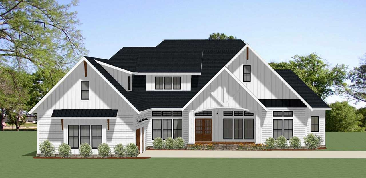 Modern-farmhouse Style House Plans Plan: 90-159