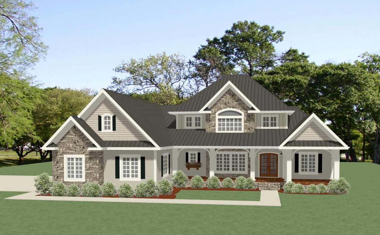Country Style Home Design Plan: 90-161