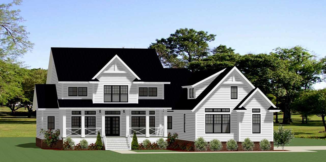 Modern-farmhouse Style House Plans Plan: 90-163
