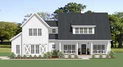 Modern-Farmhouse Style Home Design Plan: 90-164