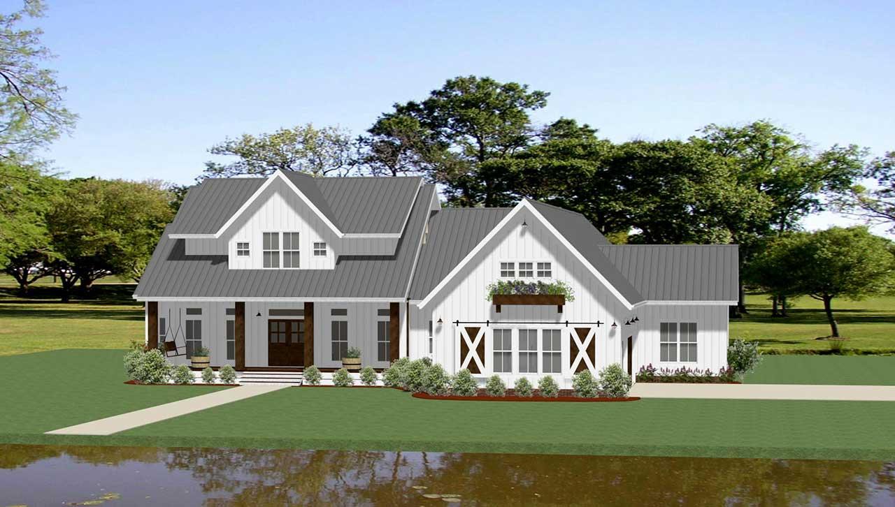 Modern-farmhouse Style House Plans Plan: 90-168