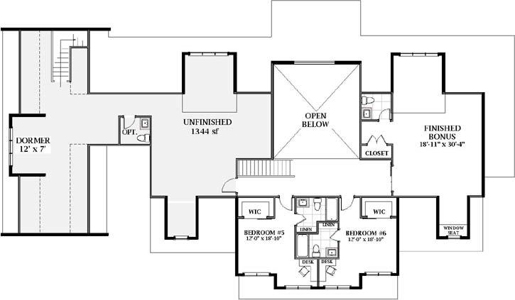 Upper/Second Floor Plan:90-169
