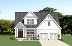 Country Style Floor Plans Plan: 90-170
