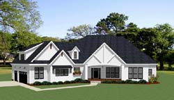Modern-Farmhouse Style House Plans Plan: 90-173