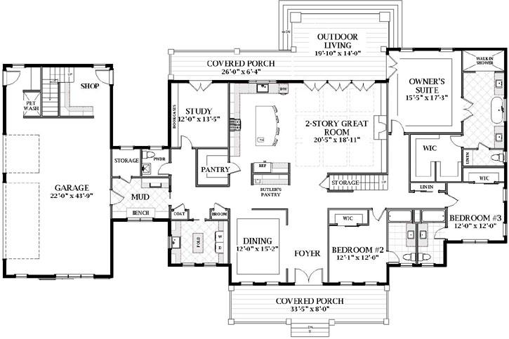 Main Floor Plan: 90-175