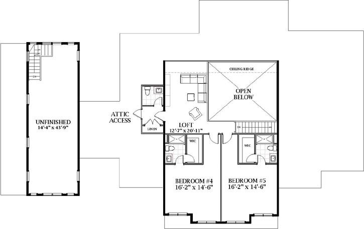 Upper/Second Floor Plan:90-175