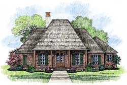 Southern Style Home Design Plan: 91-105