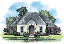 French-Country Style House Plans Plan: 91-106