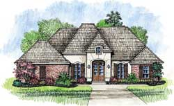 French-Country Style Floor Plans Plan: 91-107