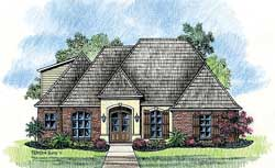 French-Country Style Floor Plans Plan: 91-108