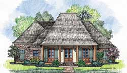 Southern Style Home Design Plan: 91-109