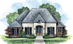 French-Country Style Floor Plans Plan: 91-112