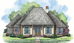 Southern Style Home Design Plan: 91-113