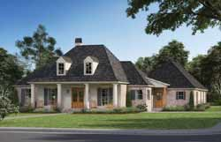 Southern Style Home Design Plan: 91-114