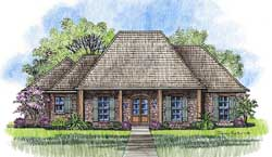 French-Country Style House Plans Plan: 91-118