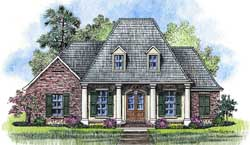 Southern Style Home Design Plan: 91-119