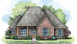 Southern Style Home Design Plan: 91-120
