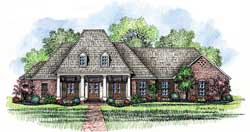 Southern Style Floor Plans Plan: 91-129