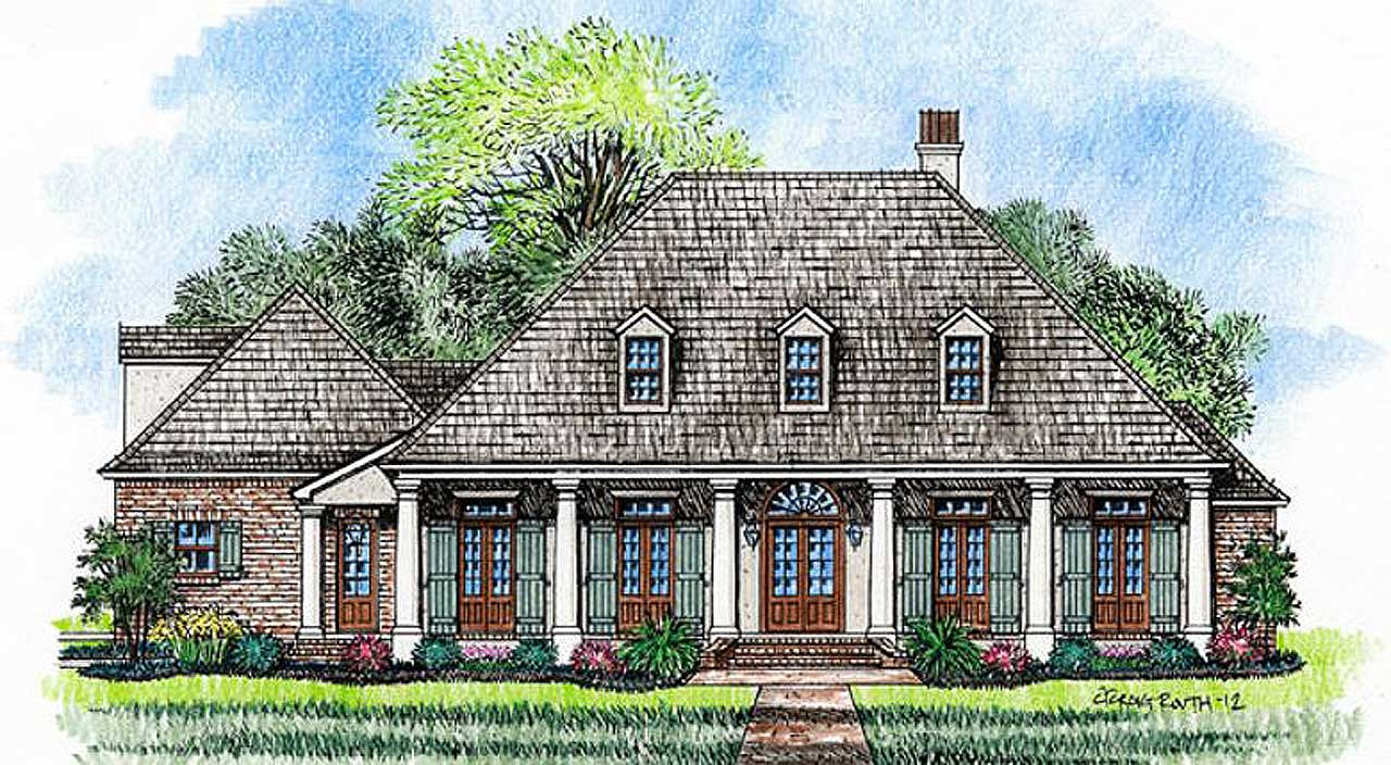 Southern Style House Plans Plan: 91-133