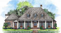 Southern Style Floor Plans Plan: 91-133