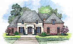 French-Country Style House Plans Plan: 91-134