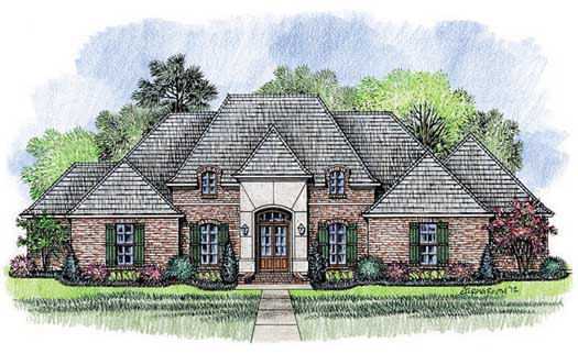 French-country Style Floor Plans 91-136