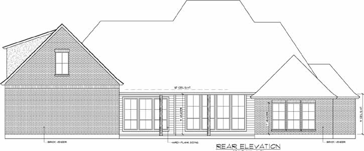 Rear Elevation Plan: 91-136