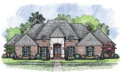 French-Country Style House Plans Plan: 91-136